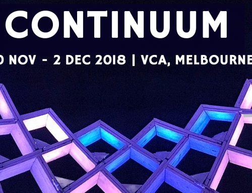 2018 Drama Australia National Conference: CONTINUUM